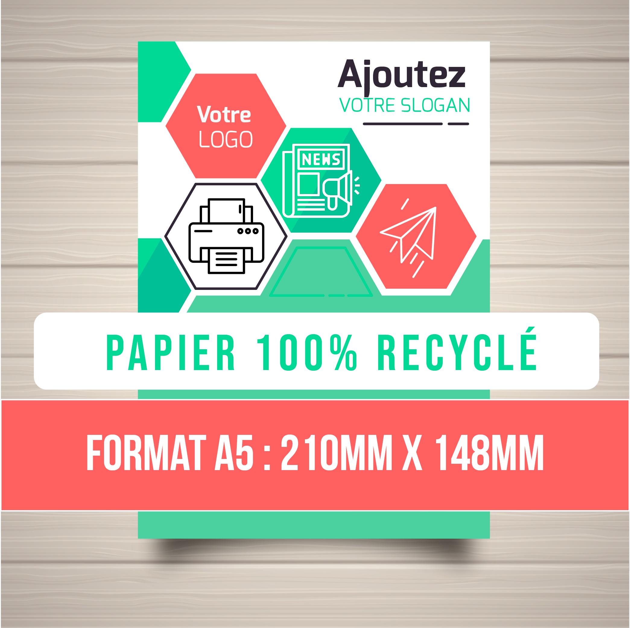 Flyers A5 papier 100% recyclé