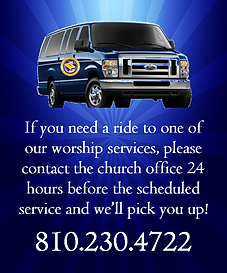 Transportation at Victorious Word Church G3560 Beecher Road Flint Michigan