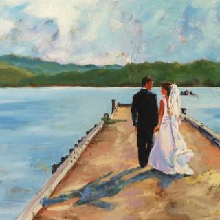 wedding and dock