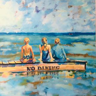 kids on a raft