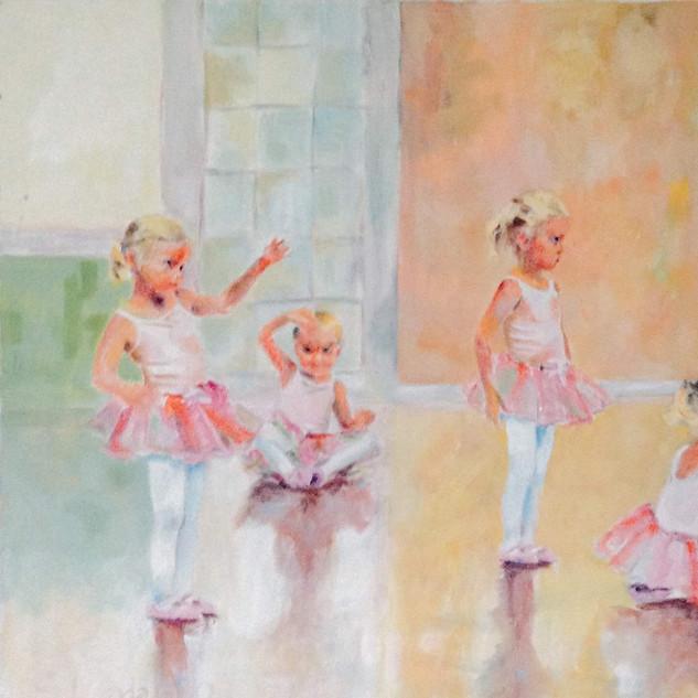 ballerina at three years old