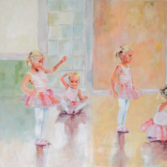 ballerina at three years old