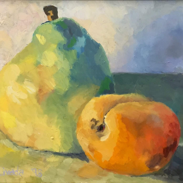 pear and apricot
