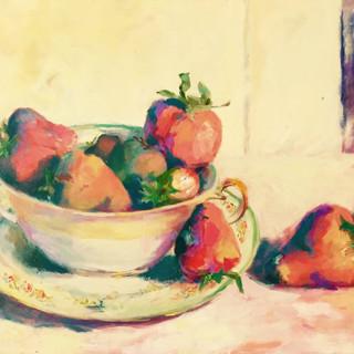 strawberries in nana's bowl