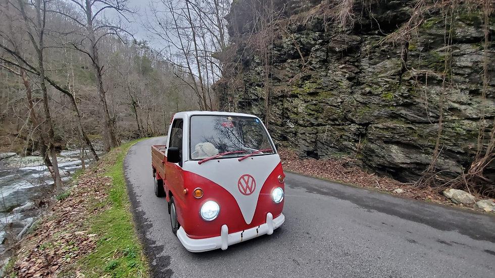 sold-1992 SUBARU SAMBAR-VW MICROTRUCK 4X4 PICKUP IT HAS 49,800 MILES