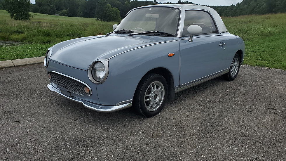 1992  NISSAN FIGARO TURBO CONVERTIBLE,FLAWLESS PAINT, NO RUST. NEW TOP