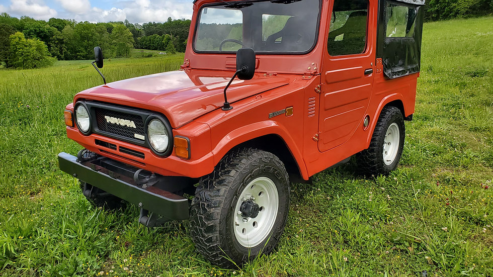 FRAME ON RESTORED 1980 Toyota blizzard LD10 6-PASSENGER REMOVABLE TOP 2.2 liter