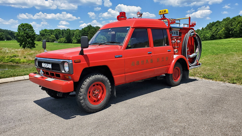 1990 NISSAN SAFARI FIRE TRUCK, IT HAS ONLY 1,025 MILES , 4.2LITR INLINE 6