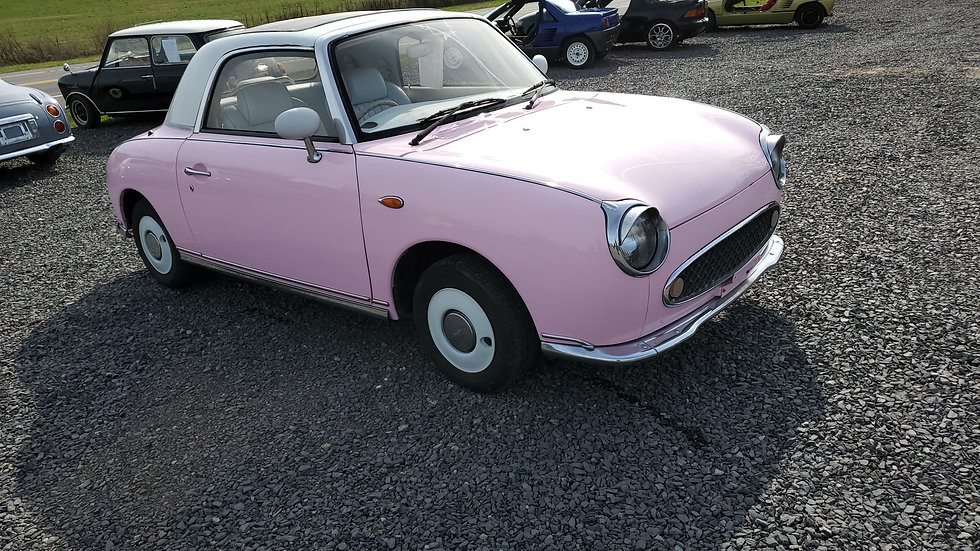 Pink 1991 NISSAN FIGARO TURBO CONVERTIBLE  1.0 LITER 4 CYLINDER automatic