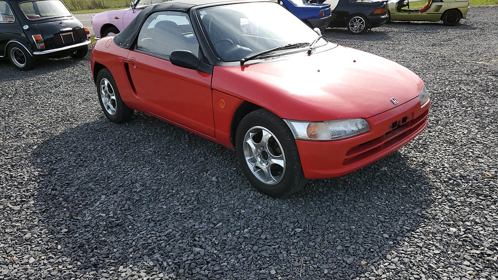 1991 HONDA BEAT CONVERTIBLE  MID ENGINE A 3CYLINDER 5 speed 66, 383miles