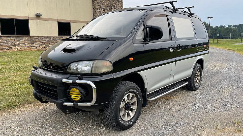 1995 MITSUBISHI DELICA SUPER EXCEED CRYSTAL LITE ROOF 4X4 TURBO DIESEL