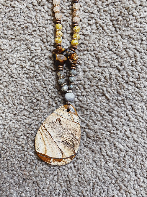 Stone Pendant Necklace