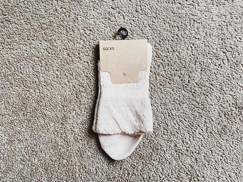 Knit Bootie Socks - Pink