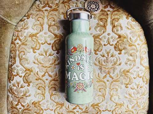 Kindness is Magic Metal Water Bottle