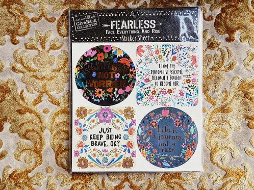 Fearless Sticker Sheet A - Natural Life