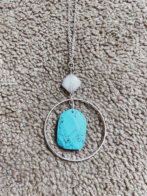 Jade Pendant Necklace - Silver