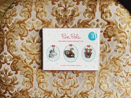 Pin Pals - Holiday Enamel Pin Collection