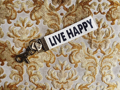 Natural Life Keyfob - Live Happy