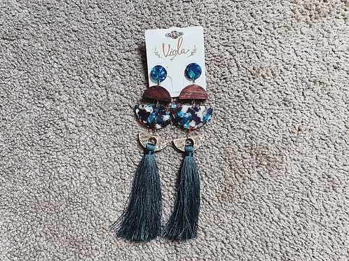 Tassel Earrings - Emerald