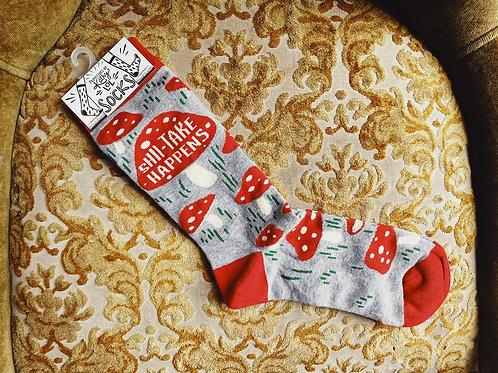 "Socks - ""Shii-take happens"""