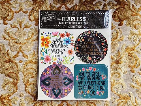 Fearless Sticker Sheet B - Natural Life