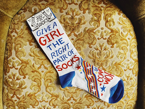 "Socks - ""Give a girl the right pair of socks, she can conquer the world"""