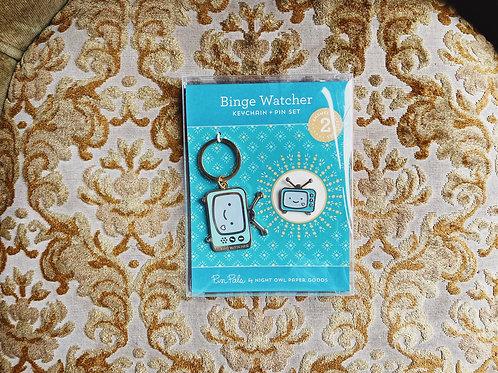 Binge Watcher - Enamel Pin & Keychain