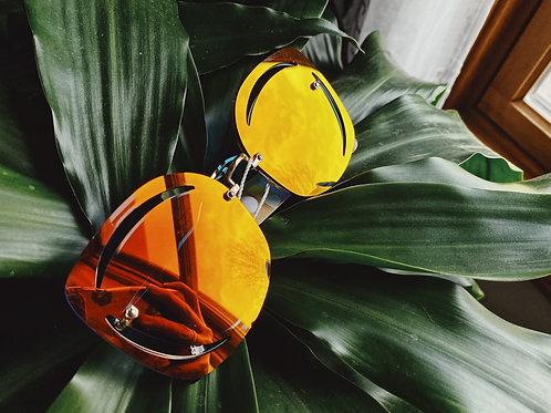 Sunglasses - Orange/Iridescent