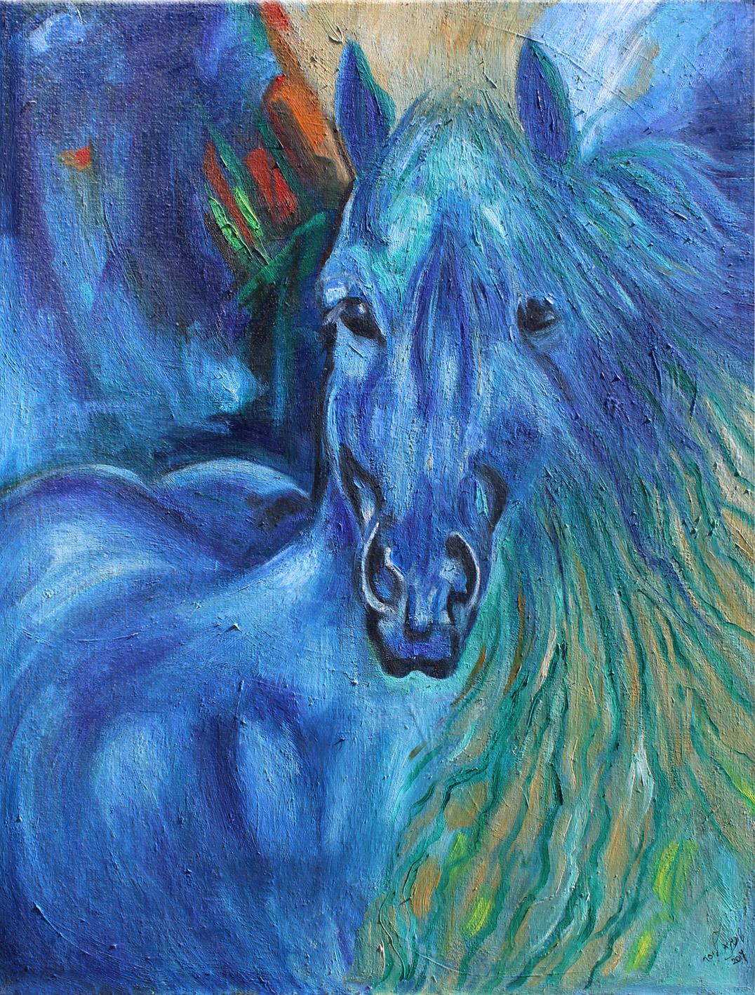 סוס-כחול