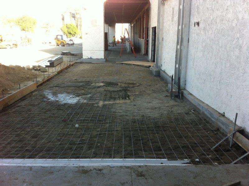 Sidewalk prep