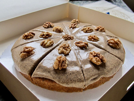 Vegan Coffee Walnut Cake