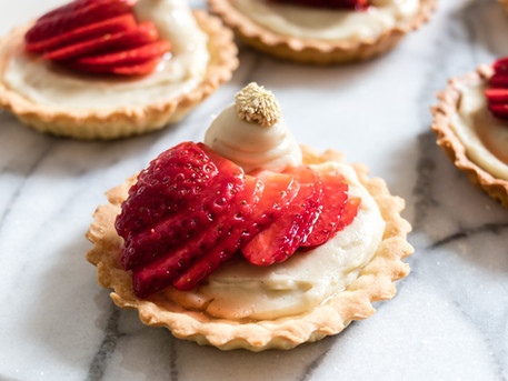 Strawberry, Vanilla & Chamomile Tart