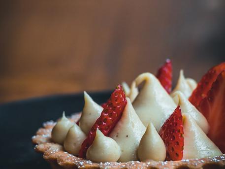 Strawberry, Vanilla & Chamomile Tart