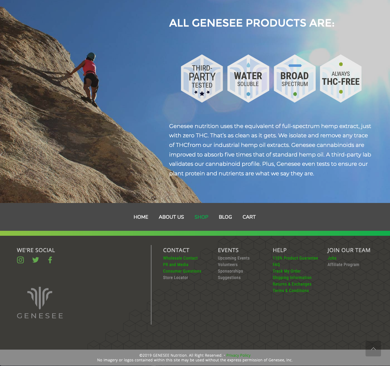 Genesse Nutrition Website
