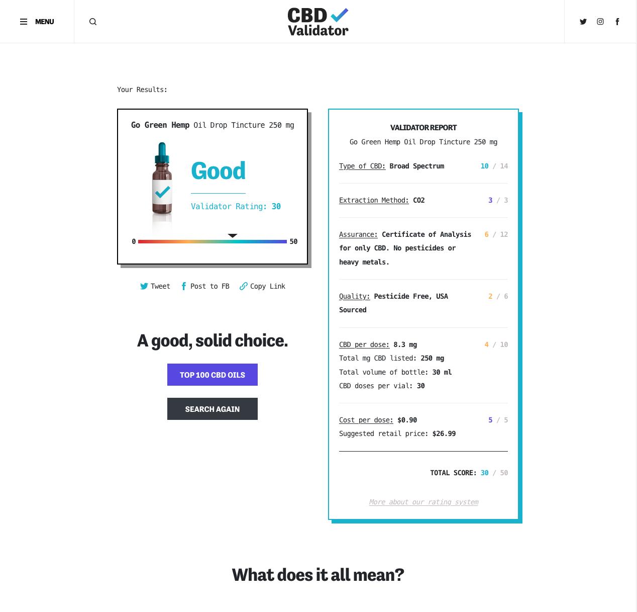 CBD Validator