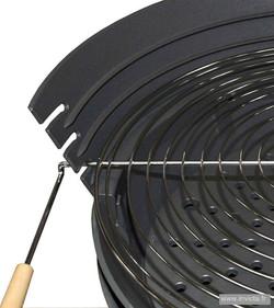 Cast Iron Charcoal BBQ Shogun Grill