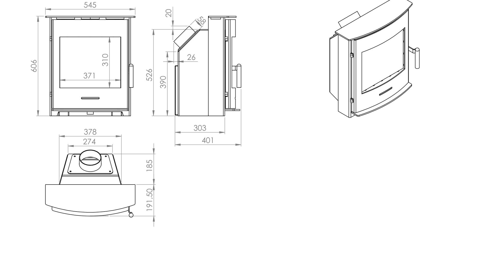 Newbourne 40i dimensions