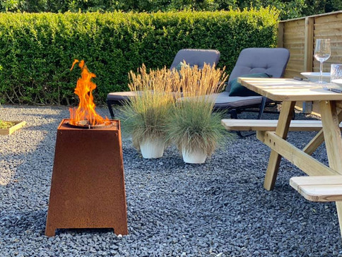 Heta Quad pellet outdoor burner