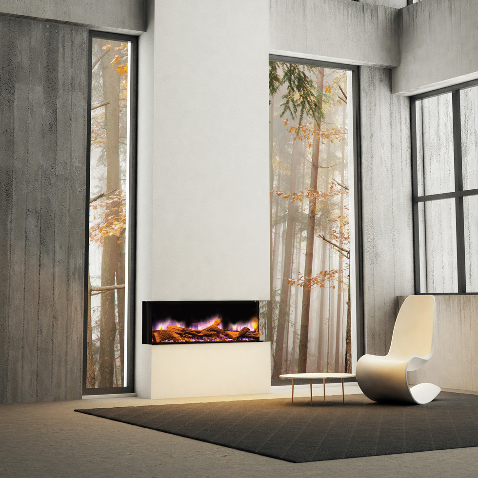 The ilektro electric fireplace collection