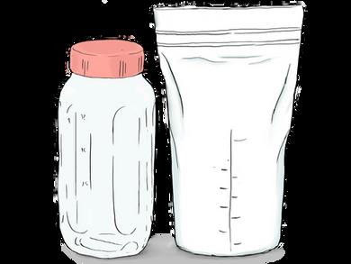 Almacenamiento y manejo de la leche materna extraída