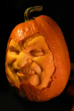 Grumpy the Extreme Pumpkin Carving