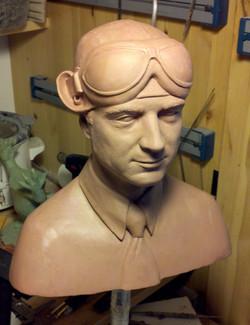 Bust of Howard Hughes