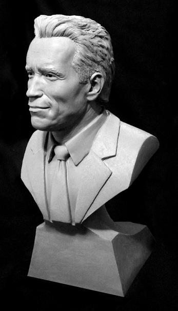Arnold Schwarzenegger Sculpture