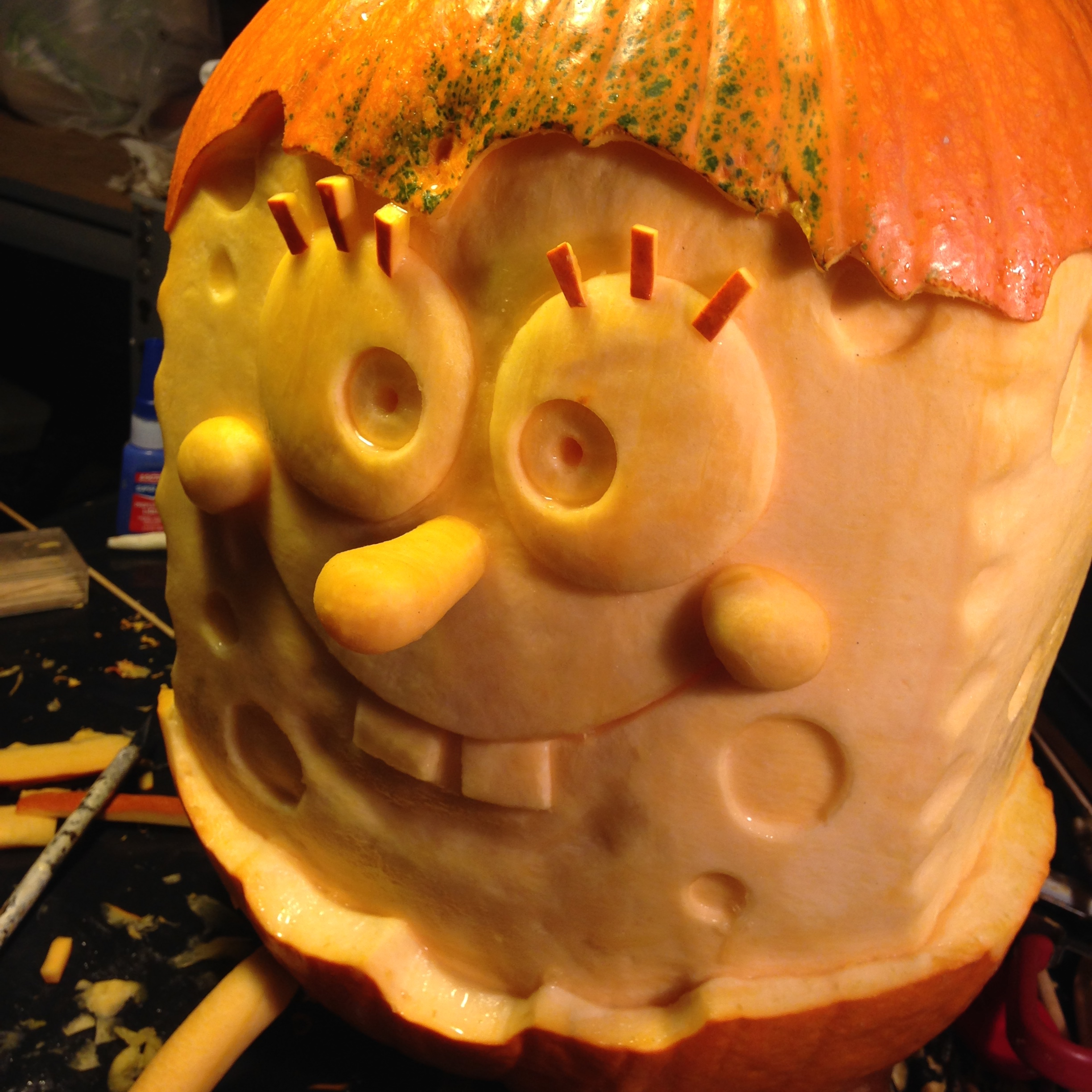 Sponge Bob the Pumpkin Carving