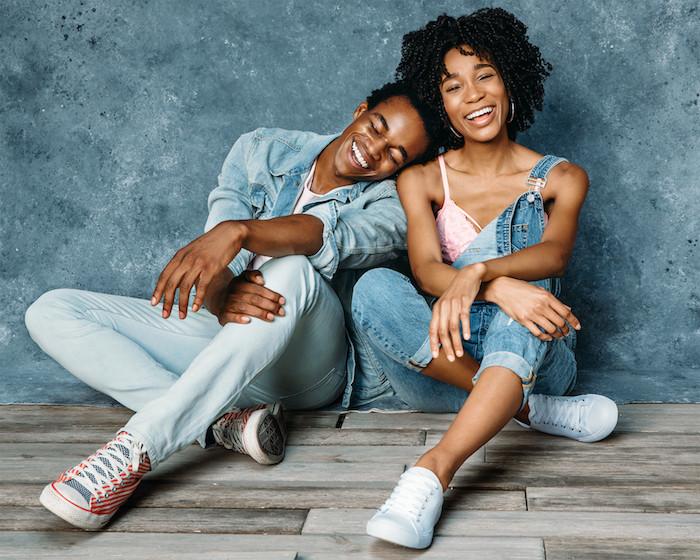 Kamla-Kay Models smiling in Gap & Target Denim