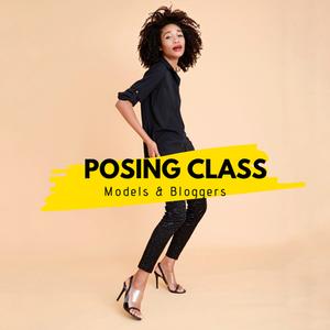 Black Model Kamla-Kay posing in a photo studio