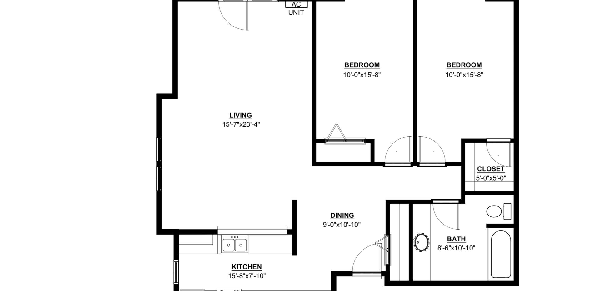 Maple Trails 2 Bedroom End Unit Apartment