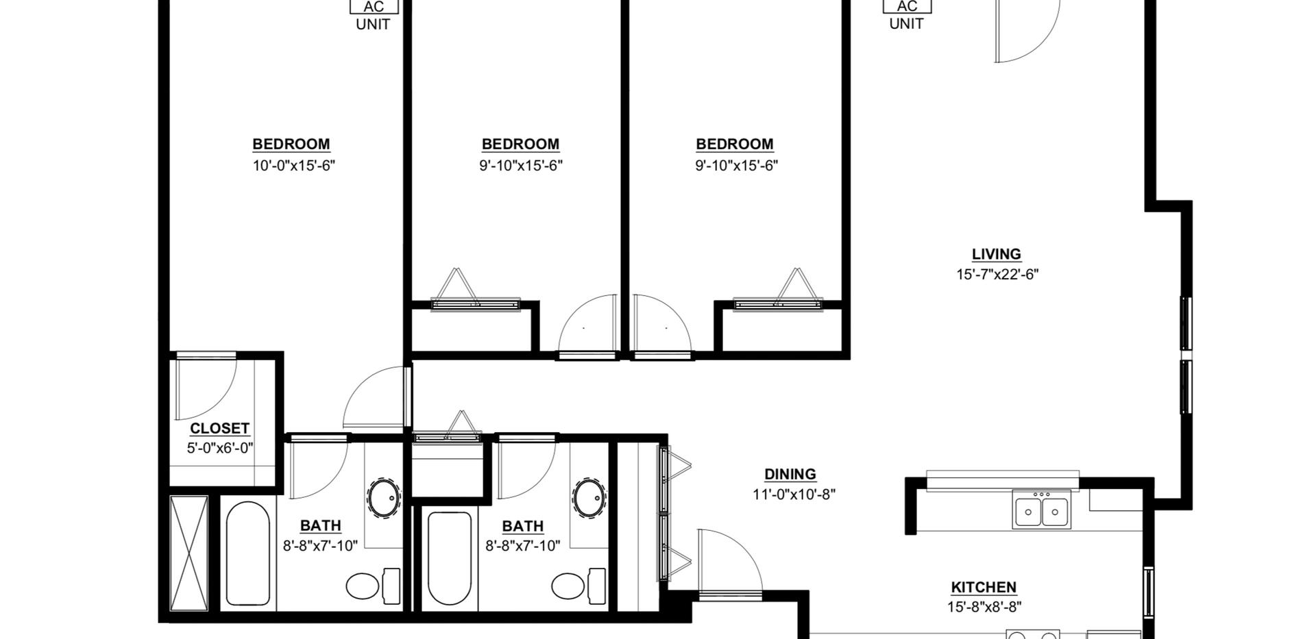 Maple Trails 3 Bedroom Corner Unit Apartment