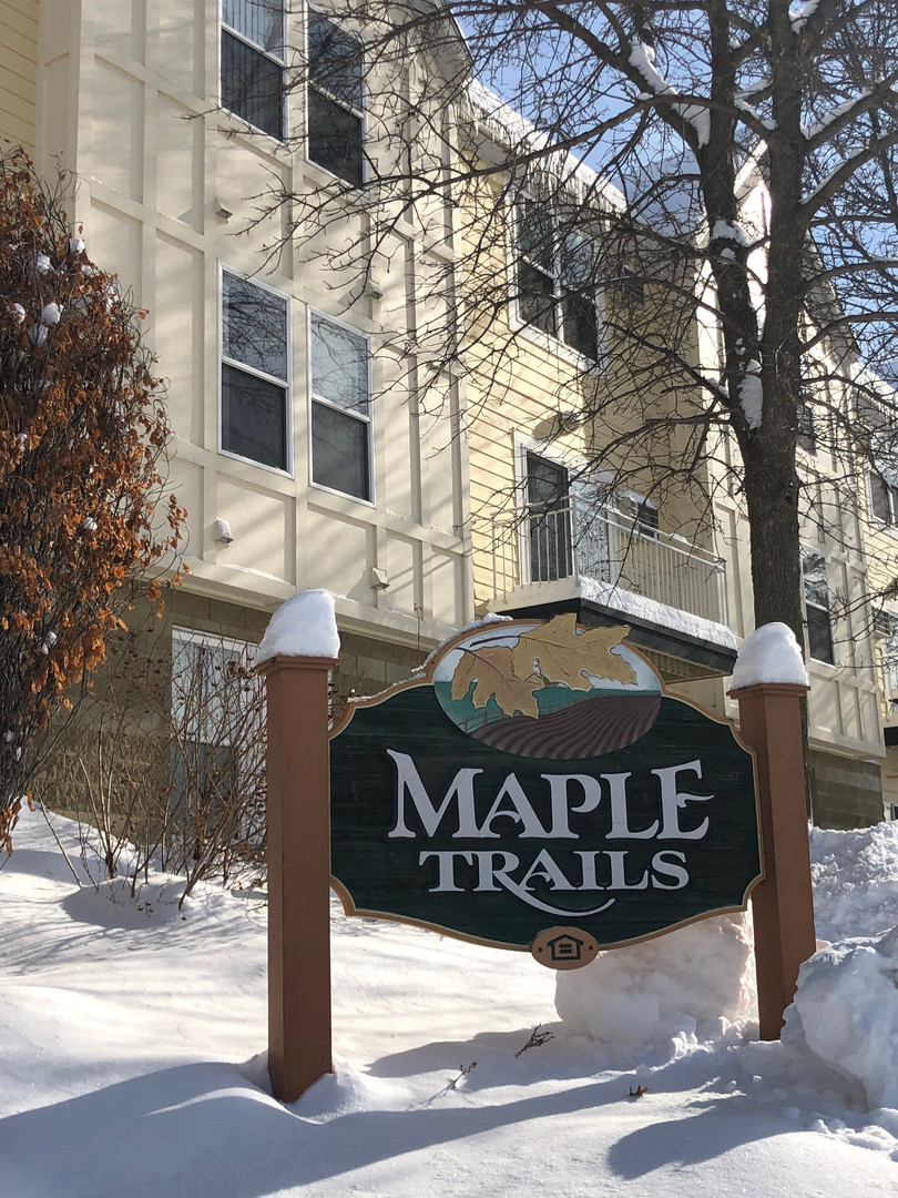 Maple Trails Apartments Winter outdoor signage