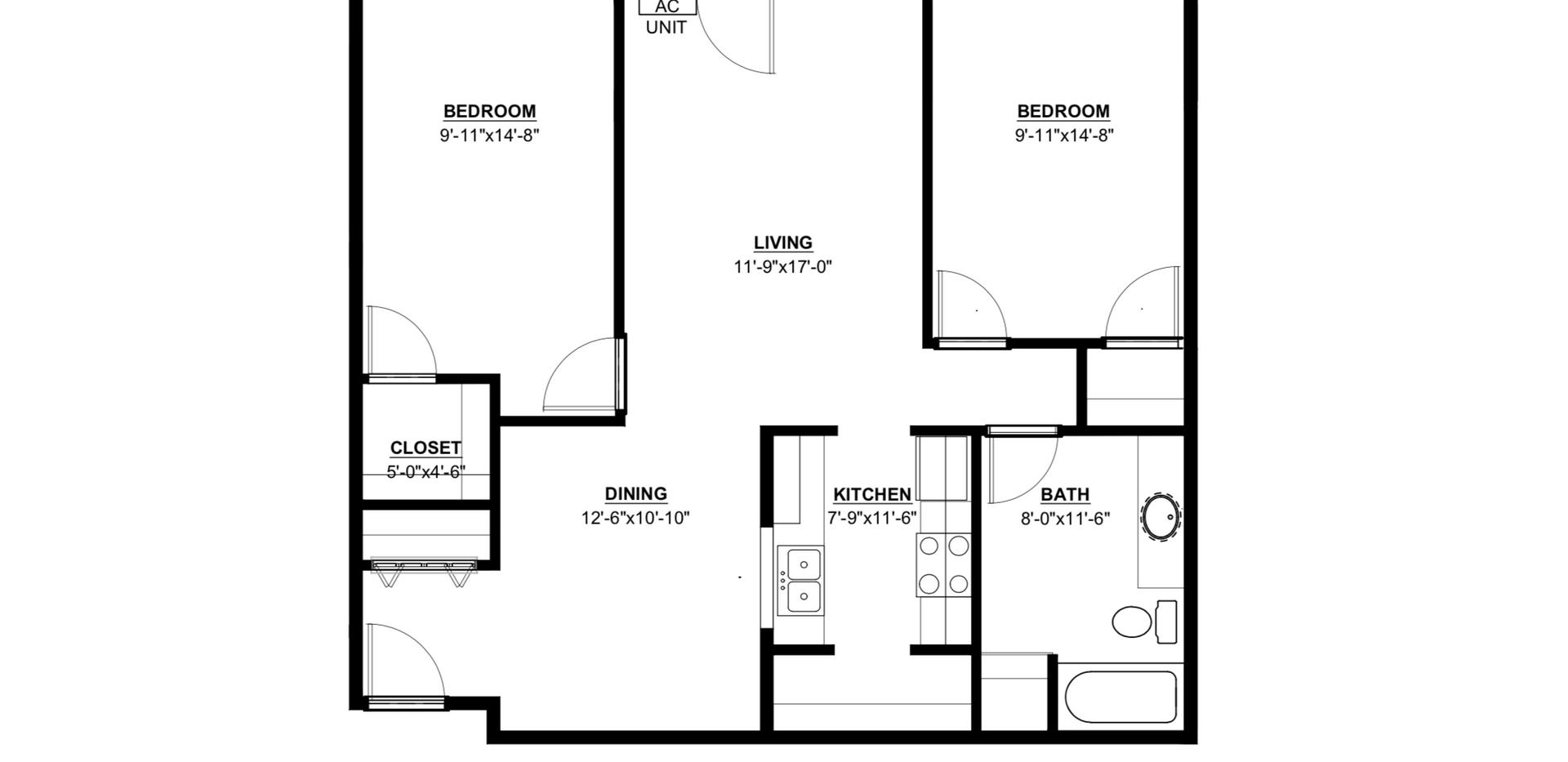 Maple Trails 2 Bedroom Split Apartment
